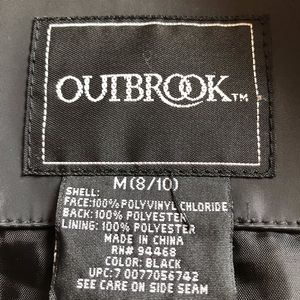 Outbrook Jackets & Coats - Black trench coat.